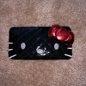 Black and red hello kitty wallet